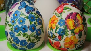 Мастер класс: Пасхальные яйца (декупаж). Decoupage. Easter eggs.(, 2016-03-20T04:43:51.000Z)