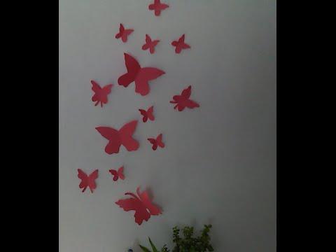 Decorando con mariposas de papel ranier youtube - Decoracion con mariposas ...