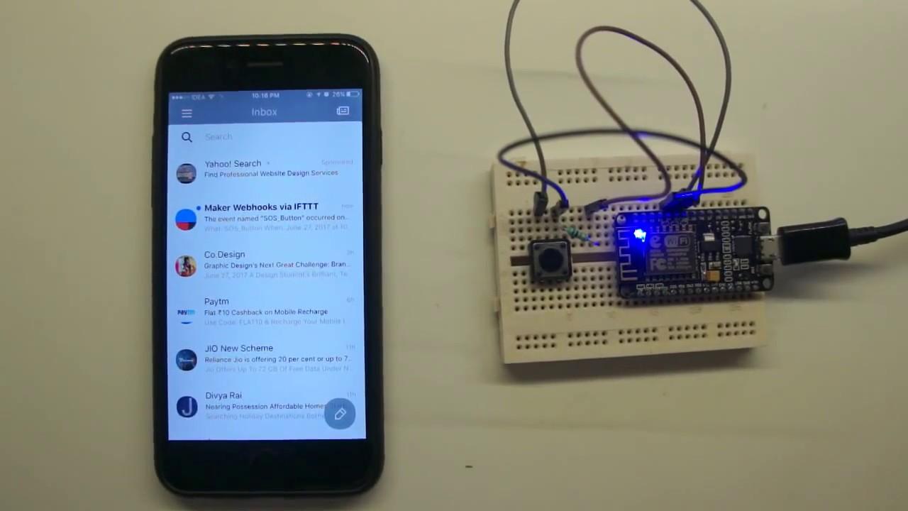 IFTTT button with NodeMCU