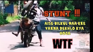 Stunt On Bullet Gone Viral ! ! ! Fail ! ! !