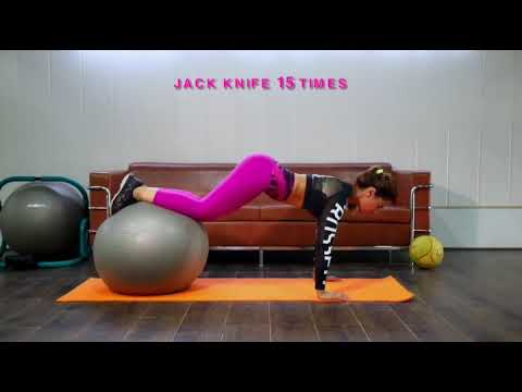 SWISS ball abs n butt workout.