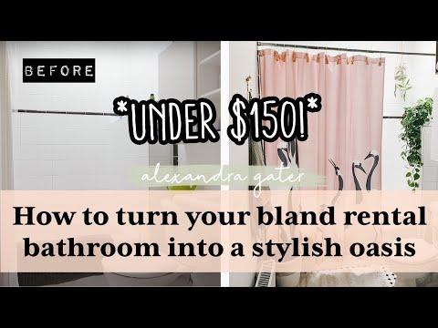 Transforming a rental bathroom for under $150   Mini bathroom makeover!