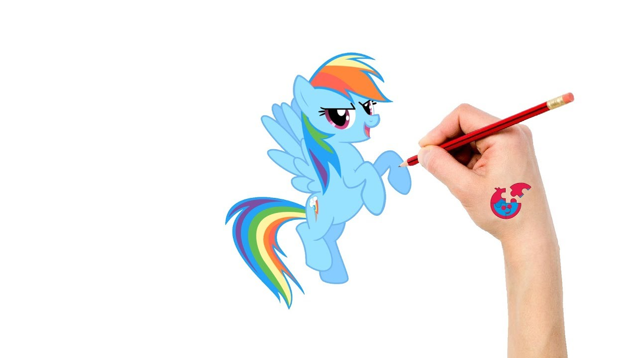 Learning How To Draw My Little Pony For Toddlers Rainbow Dash