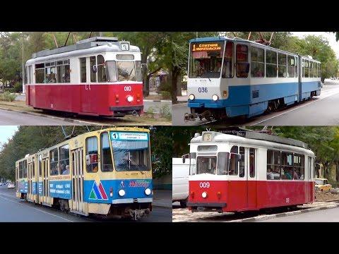 Евпаторийские трамваи + (старая часть города Евпатория)