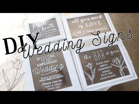 DIY Wedding Signs Tutorial #1 | Acrylic Pane Rustic Wedding Decor Ideas