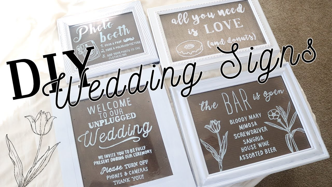 Rustic Wedding Signs.Diy Wedding Signs Tutorial 1 Acrylic Pane Rustic Wedding Decor Ideas