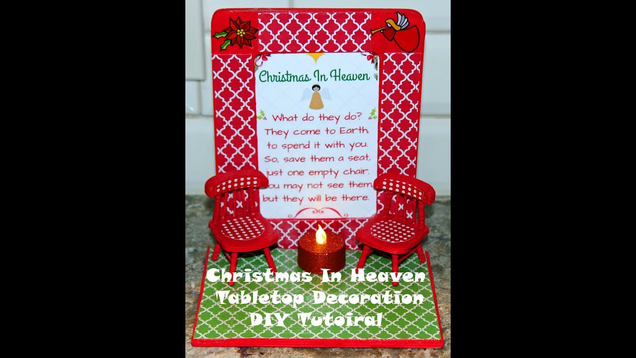photo regarding Christmas in Heaven Poem Printable titled Xmas within just Heaven Do-it-yourself Craft with products versus Greenback Tree, Walmart and Interest Foyer