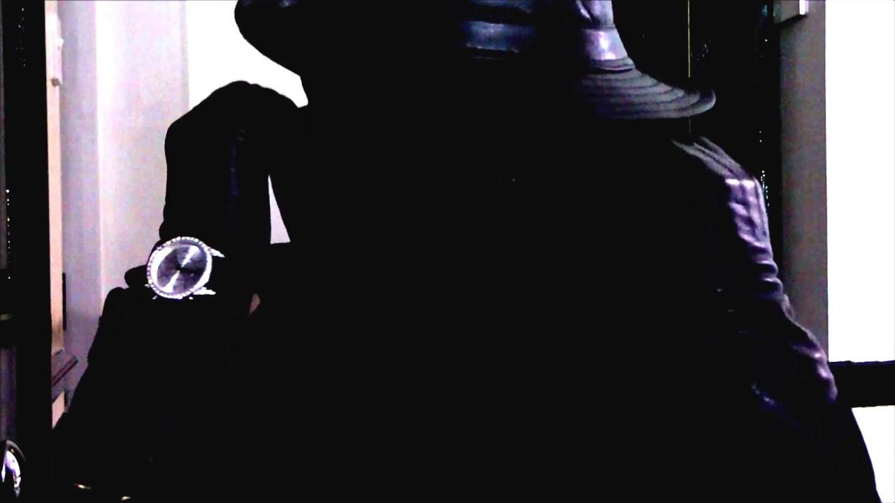Ladies long vintage leather gloves - Woman In Leather Hat Vintage Leather Gloves And Mask
