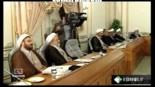 Despite Ahmadinejad presence Larijani call for obeying Velaayate Faghih