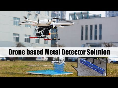 5Hours Endurance Drone based Metal Detector Solution