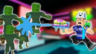 ROBLOX: ZOMBIE CATCHER WITH WATER PISTOL!! -Play Old man