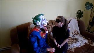 Джокер любовь Женщина Кошка Супермен поцелуй Женщина Кошка Смешные супергерои.