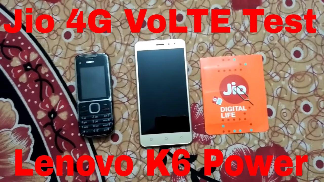 Lenovo K6 Power Jio 4G VoLTE Test