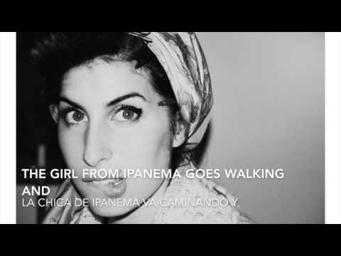 Amy Winehouse - The girl from Ipanema (Lyrics English & Spanish) (Letra Inglés y Español)