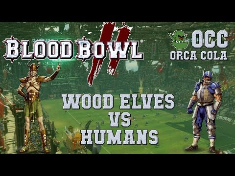 Blood Bowl 2 - Wood Elves (the Sage) vs Humans (Rautanaama) - OCC G1