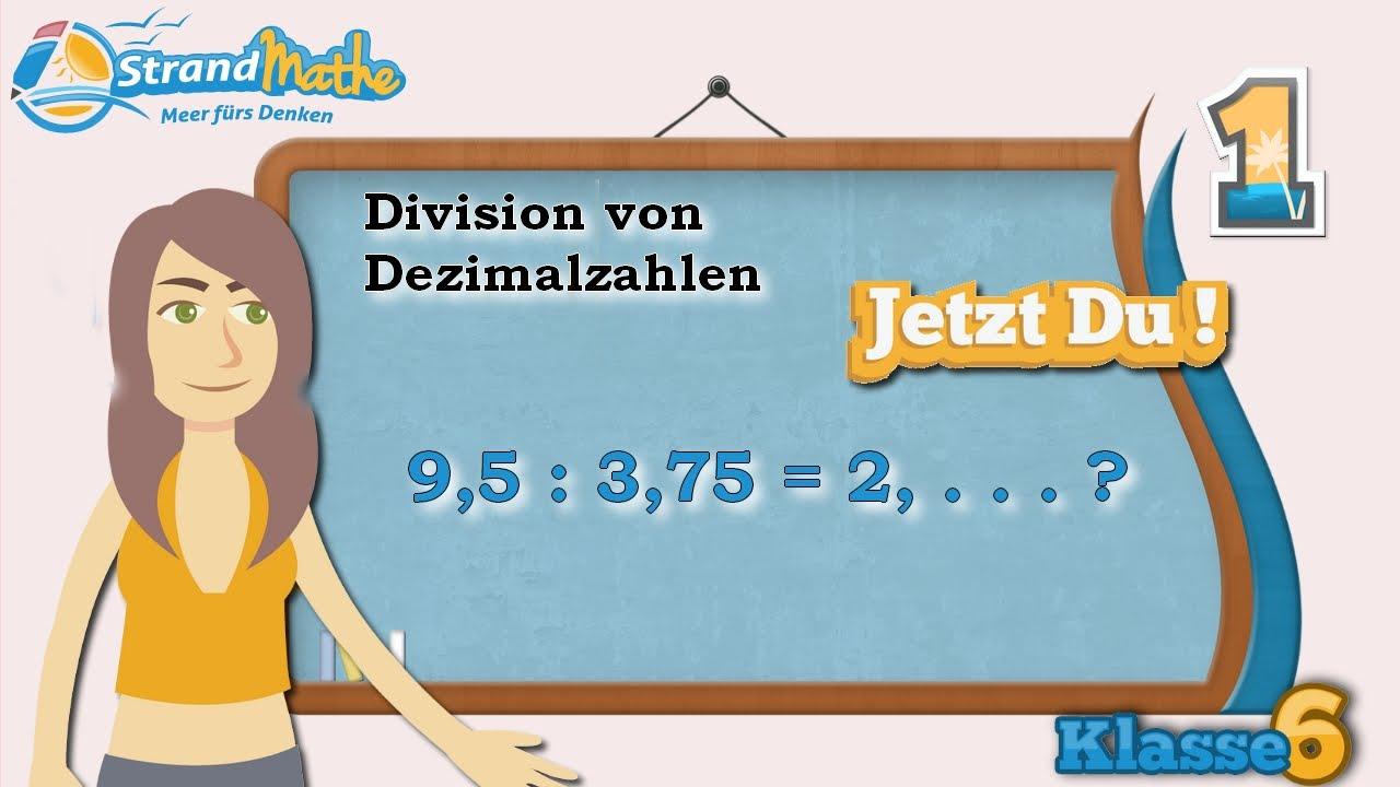 Dezimalzahlen Division || Klasse 6 ★ Übung 1
