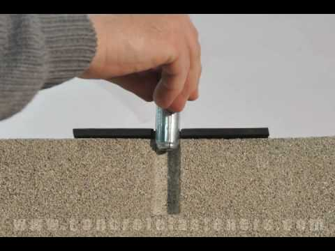 Drop-in Anchor to attach a Fire Sprinkler to Concrete