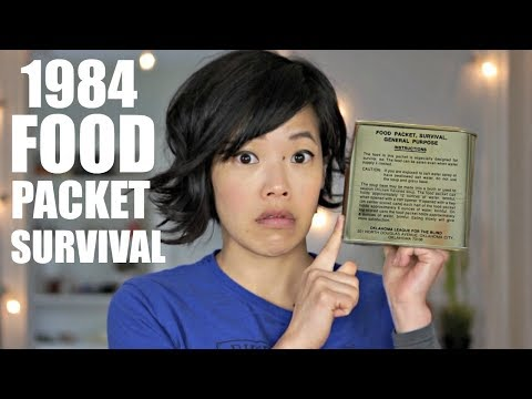 1984 Food Packet Survival, General Purpose   U.S. AIR FORCE Pilot Emergency MRE RATION TASTE TEST