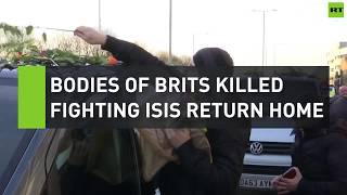 Bodies of Brits killed fighting ISIS return home