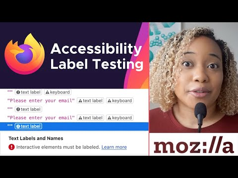 Test For Text Label Issues Using The Firefox Accessibility Inspector
