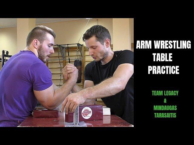 ARM WRESTLING TABLE TRAINING PRACTICE