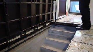 Люк в подвал под плитку с газовыми амортизаторами(Производя отделочные работы в доме часто необходим доступ к коммуникациям, который нужно скрыть от посторо..., 2015-12-31T12:19:56.000Z)
