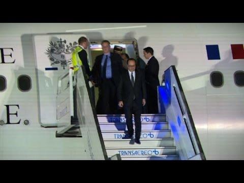 Hollande en Colombia para visita oficial