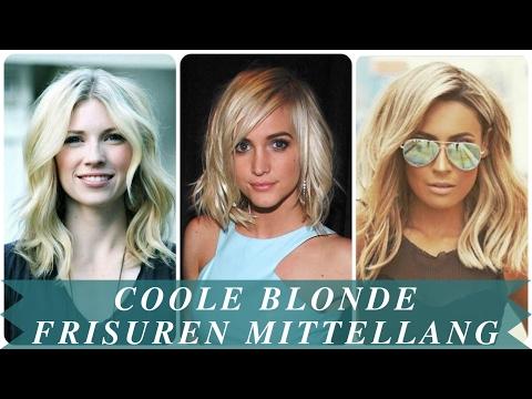 Coole blonde frisuren mittellang