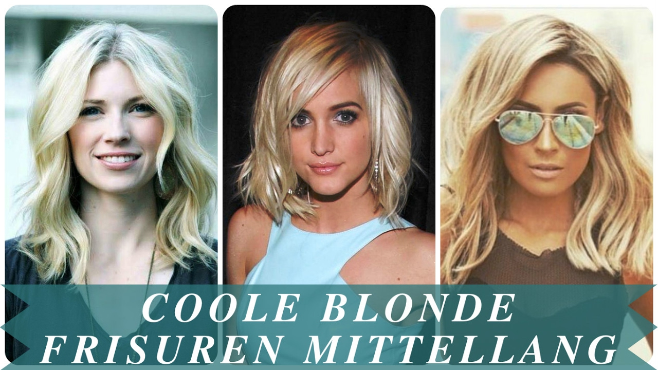 Coole Blonde Frisuren Mittellang Youtube