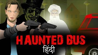 Fear in a Haunted Bus - Horror stories in Hindi Animated