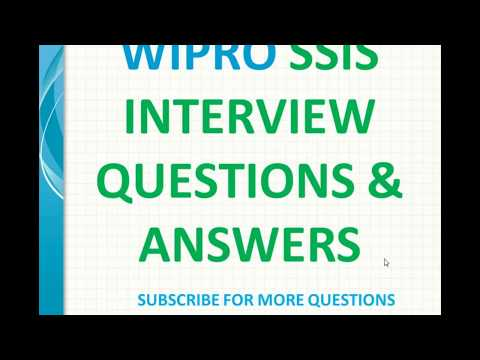 WIPRO ssis Interview Questions and Answers - YouTube