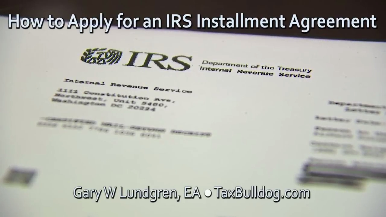 How to Apply for an IRS Installment Agreement Ep.2017-06 - YouTube