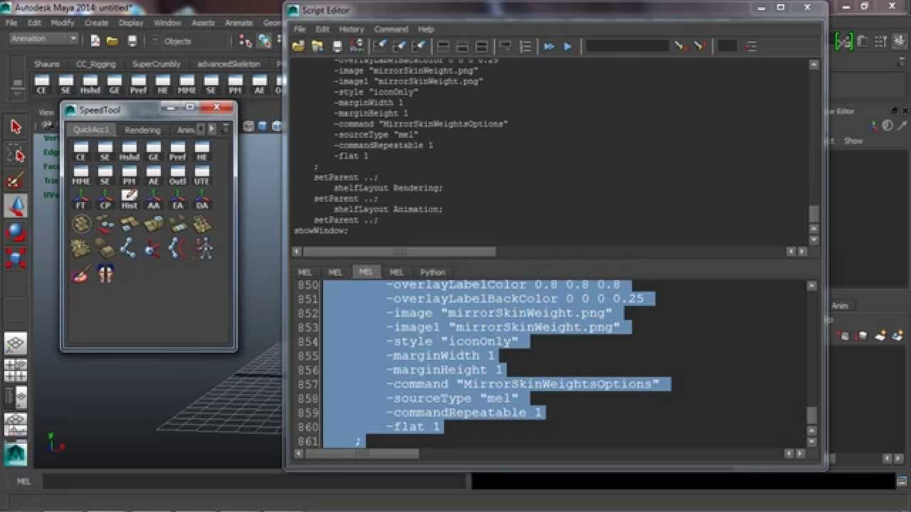 Quick Tip: Scripting a Custom Tool Window in Maya