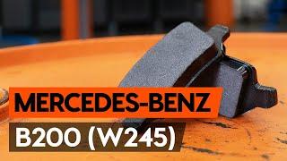Hvordan man ændrer Bremseklods foran og bag MERCEDES-BENZ B-CLASS: videovejledning