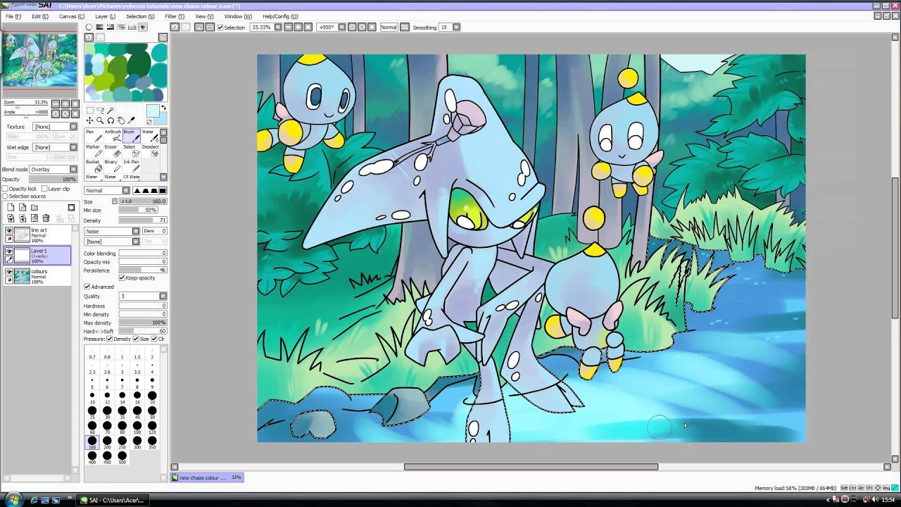 Water tutorial paint tool sai adobe photoshop youtube for Painting on water tutorial