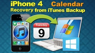 Restore my iPhone 5/4S/4: Can I Restore or Recover Deleted or Lost Calendar from iPhone 4 on Win