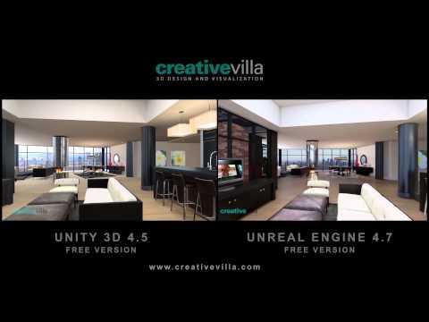 Unity VS Unreal Architectural Visualization - YouTube