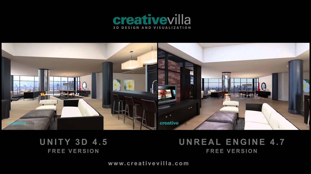 unity vs unreal architectural visualization
