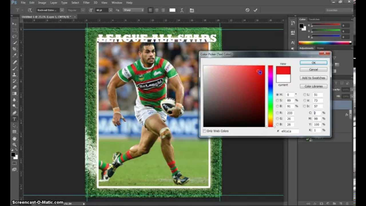 Make A Trading Card In Adobe Photoshop Part 1