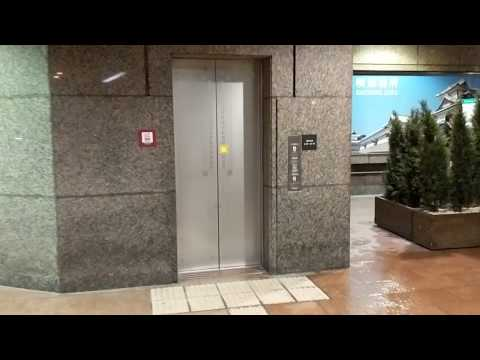 Fujitec elevator outside Porta Kanazawa Ishikawa Japan