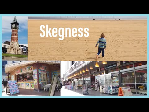 Skegness Coast, Seafront Beach, Attractions, Park. Seaside Town Of Lincolnshire