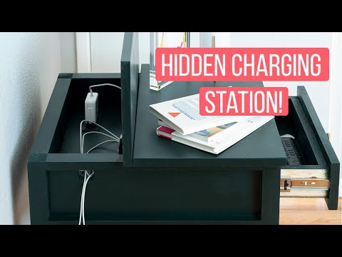 DIY end table with hidden charging station for multiple devices -  Anikas DIY Life