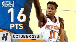 Frank Ntilikina Full Highlights Knicks vs Nets 2018.10.29 - 16 Pts, 5 Reb, 4 Ast