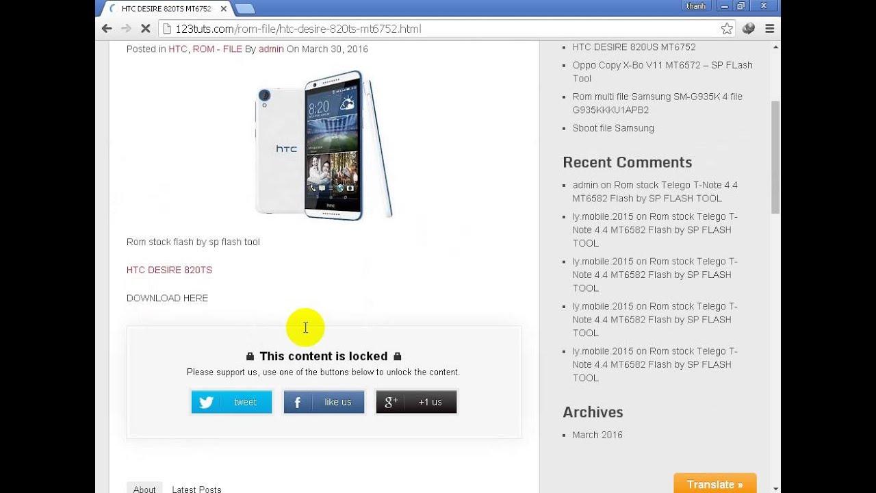 Rom HTC DESIRE 820TS MT6752