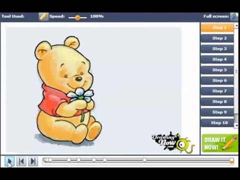 How to Draw Baby Winnie the Pooh