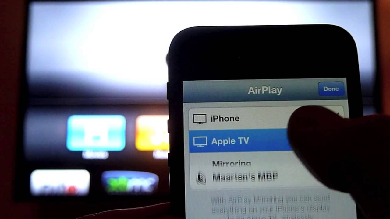 airplay iphone 5 iphone 5 airplay mirroring on apple tv 2 10050