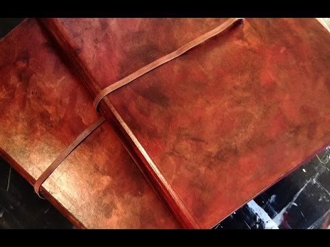 Painting a faux leather journal youtube - Faux journal personnalise ...