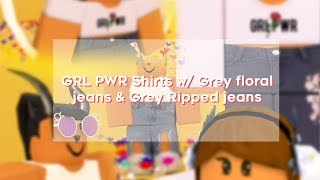 ROBLOX Speed Design: GRL PWR Outfit & Ripped Jeans