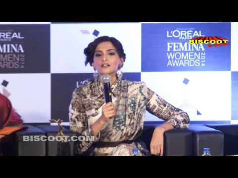 UNCUT: Sonam Kapoor at Femina Women Awards 2014