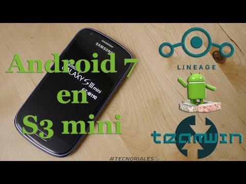 Instalar Android Nougat 7.1.2 en el Samsung Galaxy S3 Mini